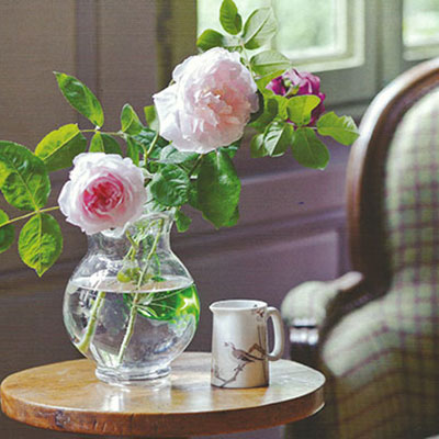 Flowers on side table