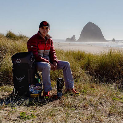 Product Model at Cannon Beach